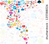 social network background with... | Shutterstock .eps vector #135588026