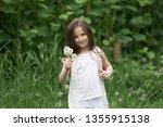 portrait of a beautiful little... | Shutterstock . vector #1355915138