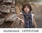 portrait of a handsome and... | Shutterstock . vector #1355915168