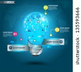 creative light bulb technology...   Shutterstock .eps vector #135593666