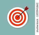 target icon in flat style on... | Shutterstock .eps vector #1355941862