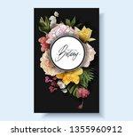 vector vintage floral banner... | Shutterstock .eps vector #1355960912