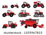 agricultural mechanization flat ... | Shutterstock .eps vector #1355967815