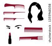concept for beauty salon ... | Shutterstock .eps vector #1355968358