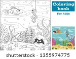 coloring book for kids. hand... | Shutterstock .eps vector #1355974775