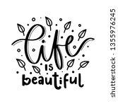 life is beautiful. vector...   Shutterstock .eps vector #1355976245