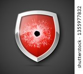 protected guard bullet hole... | Shutterstock .eps vector #1355977832