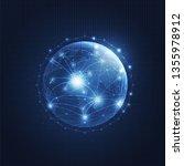 global network technology... | Shutterstock .eps vector #1355978912