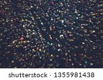 crowd people background. an... | Shutterstock . vector #1355981438