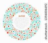 autism concept in circle ... | Shutterstock .eps vector #1356006692