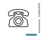 phone icon vector template | Shutterstock .eps vector #1356014435