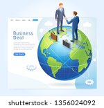 business partnership conceptual ... | Shutterstock .eps vector #1356024092