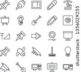 thin line icon set   right... | Shutterstock .eps vector #1356029255
