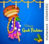 illustration of gudi padwa  ... | Shutterstock .eps vector #1356043352