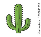mexican giant cactus color icon.... | Shutterstock .eps vector #1356049598