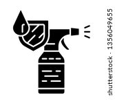 waterproof spray bottle glyph... | Shutterstock .eps vector #1356049655
