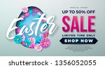 easter sale illustration with... | Shutterstock .eps vector #1356052055