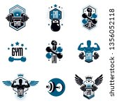 logotypes for heavyweight gym... | Shutterstock .eps vector #1356052118