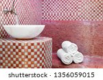 traditional turkish hamam with... | Shutterstock . vector #1356059015