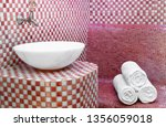 traditional turkish hamam with... | Shutterstock . vector #1356059018