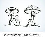 raw ripe pale grebe parasol on... | Shutterstock .eps vector #1356059912