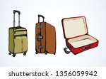 big modern closed trunk box sac ... | Shutterstock .eps vector #1356059942