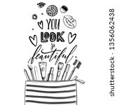 black and white cosmetics... | Shutterstock .eps vector #1356062438