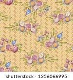 watercolour wildflower seamless ... | Shutterstock . vector #1356066995