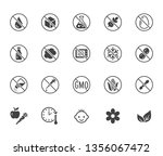 natural food flat glyph icons... | Shutterstock .eps vector #1356067472