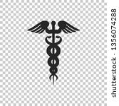 caduceus medical symbol icon... | Shutterstock . vector #1356074288