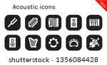 acoustic icon set. 10 filled... | Shutterstock .eps vector #1356084428