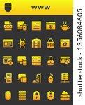 www icon set. 26 filled www... | Shutterstock .eps vector #1356084605