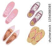 pink footwear. set. vector...   Shutterstock .eps vector #1356088385