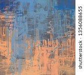 abstract texture. 2d... | Shutterstock . vector #1356088655