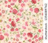 fuzzy watercolour flower... | Shutterstock . vector #1356089762