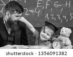 playful child concept. father... | Shutterstock . vector #1356091382