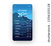 blue weather app smartphone...