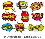 comic book sound effect speech... | Shutterstock .eps vector #1356125738