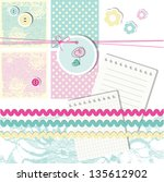 scrapbook design elements | Shutterstock . vector #135612902