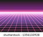 retro futuristic neon grid...