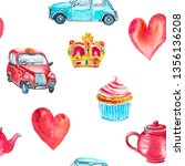 watercolor seamless pattern... | Shutterstock . vector #1356136208