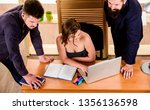 crucial discussion.... | Shutterstock . vector #1356136598