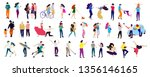 crowd of young people.... | Shutterstock .eps vector #1356146165
