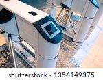 turnstile at the entrance....   Shutterstock . vector #1356149375