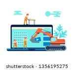development concept and website ... | Shutterstock .eps vector #1356195275