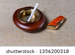 stylish exquisite ashtray with... | Shutterstock . vector #1356200318