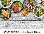 a set of delicious restaurant... | Shutterstock . vector #1356221012