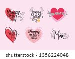 happy mothers day | Shutterstock .eps vector #1356224048