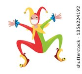 cheerful jester comic | Shutterstock .eps vector #1356224192