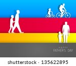 happy fathers day background... | Shutterstock .eps vector #135622895